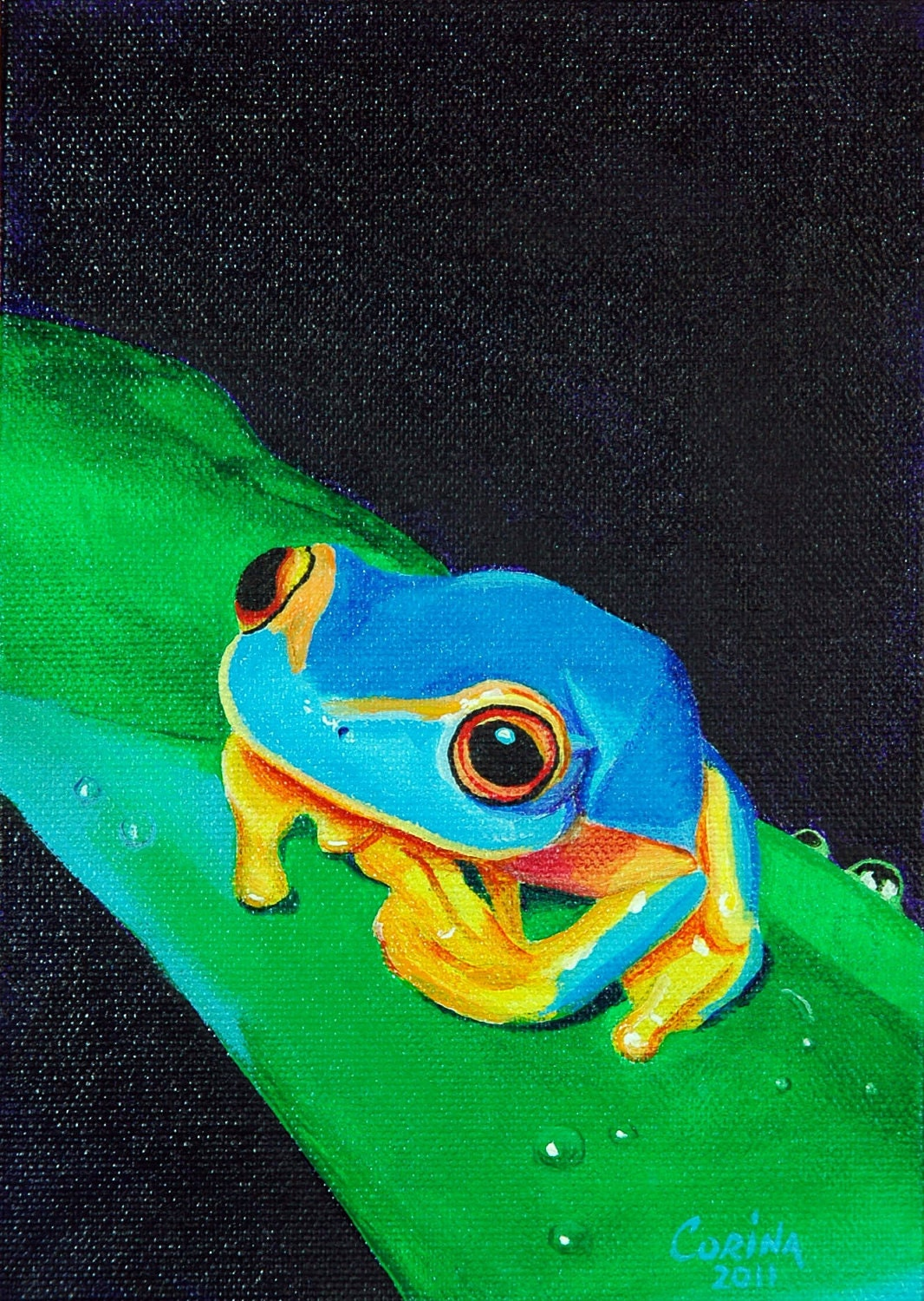 Colorful frog painting