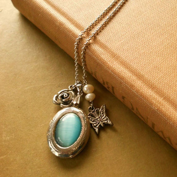 Blue Locket Necklace