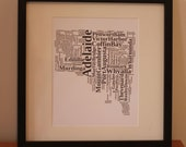 RESERVED FOR MEREDITH - Framed South Australia Typography Print