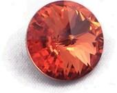 Swarovski crystal, rivoli stone, padpardascha color