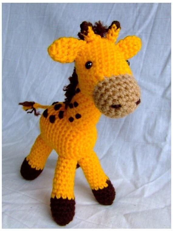 Crochet Giraffe Hat Pattern For Dogs : Crochet Giraffe Handmade Animal Wool Soft Toy Gift