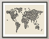 Cats Map of the World Map, Art Print (182)