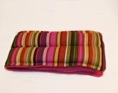 Shoulder Heating Pad, Microwave Heat Pack,  Bold Pink Stripes
