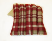 Microwave Heat Pack, Lower Back, Lumbar, Hot/Cold Pack, Large Heating Pad, Red Plaid