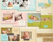 INSTANT DOWNLOAD - Birth announcements cards templates  - The arrival - E116