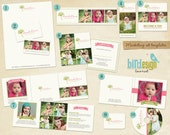 INSTANT DOWNLOAD - Pre-made Marketing Set - Simple colors - E217