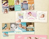 INSTANT DOWNLOAD  - Facebook Timeline Cover Collection - Birth Announcement - E370