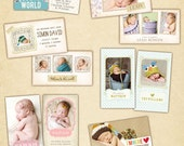 Wallet cards - Birth announcement collection - E421