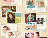Birth announcements cards templates  - Sweet Sunrise - E424