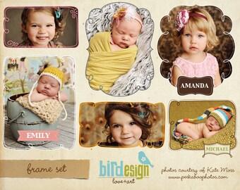 Photoshop frame set - photography banner templates - E105