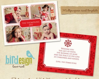 PSD Multipurpose Card Template - In love - E200