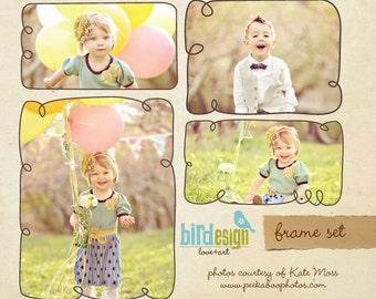 Photoshop frame set - Simple Frames- E230