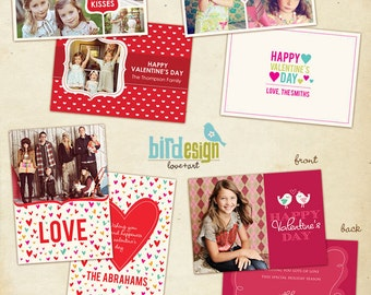 INSTANT DOWNLOAD - 4 Valentine Cards Templates - Funny Love Set - E283