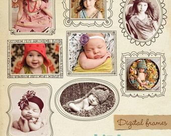 INSTANT DOWNLOAD - Digital frames set - Whimsical frames- E331