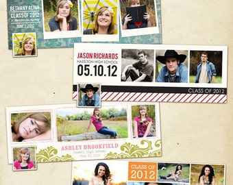 INSTANT DOWNLOAD - Facebook Timeline Cover Collection - Graduation Announcement - E375