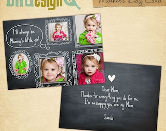 INSTANT DOWNLOAD - Mother's Day Cards - Photoshop Templates - E413