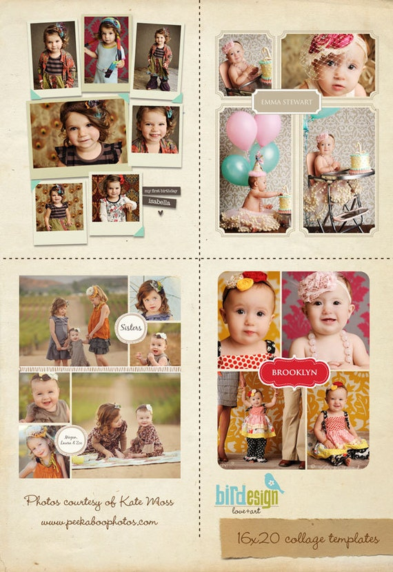 INSTANT DOWNLOAD - 10 Blog Boards & 16x20 Collage Templates - E185