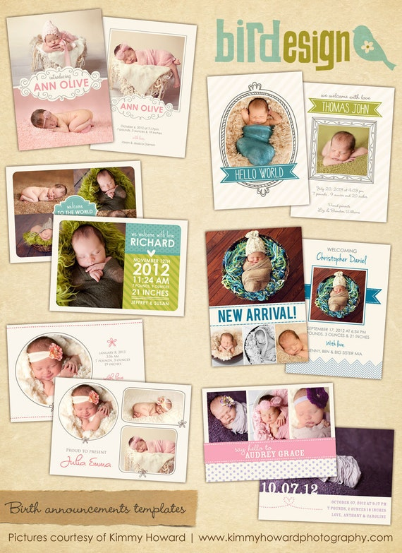 Birth announcements cards templates  - Sweet Sunrise - E424