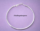Reserved for Alyssa 8 -  Silver plate 60 mm Silver Plated Hoops Earring Finding ew037