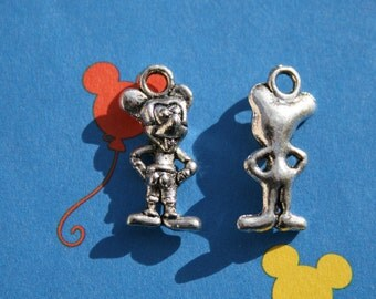 1 Mouse Charm Antique Silver 19 x 9 mm U.S Seller - sc131