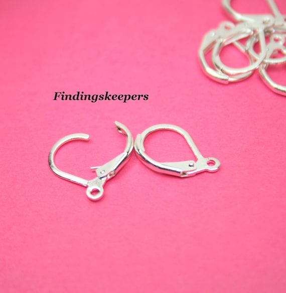 10 - Silver Plated Lever back  Ear wires ew028