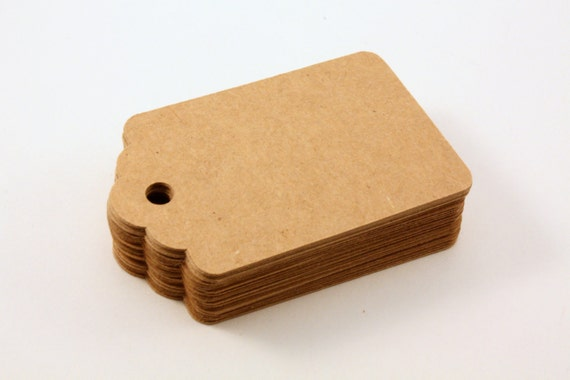 Kraft paper gift tags - Blank tags - 50 count - 2.75 x 1.75 in
