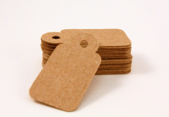Jewelry tags - mini tags - 100 count - 1 x 0.5 in