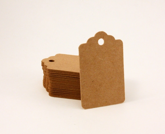 Blank small tags, kraft tags, 150 count - 2 x 1.25 in