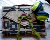 Biodegradable IPAD Purse with Headphone Access. Earbud and IPHONE Pocket