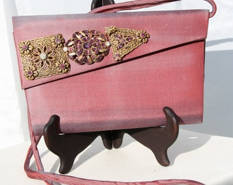 Jeweled Purse embellished and upscaled with vintage jewelry
