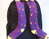 Gummy Bears - Backpack Shoulder Strap Covers - purple rainbow yellow