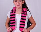 Skull - Backpack Shoulder Strap Cover - pink & black
