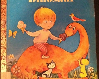 FIRST EDITION Little Golden Book - My Little Dinosaur - Unstated First Edition
