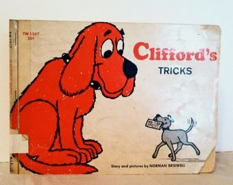 CLIFFORD's Tricks - FIRST EDITION By Norman Bridwell, 1969, Clifford The Big Red Dog, Children's Vintage Books, Paperback