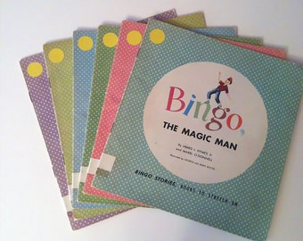 Lot of 6 - Books To Stretch On - Three BINGO Stories and Three CHUCKLE Stories - 1955 RARE