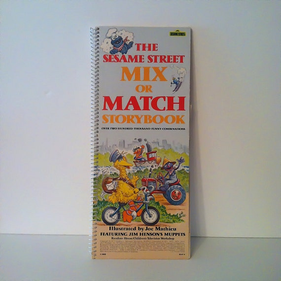The Sesame Street Mix or Match Story Book-1st Edition-RARE, Big Bird, Cookie Monster, Grover, Oscar The Grouch, Bert and Ernie