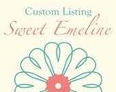 Custom Listing for Cristie