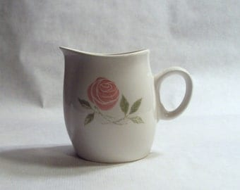 Franciscan China Whitestone Ware Pink-A-Dilly Cream Pitcher Creamer