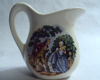 Vintage McCoy Pottery Courting Colonial Couple Individual Creamer Cream Pitcher
