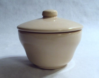 Homer Laughlin Best China Restaurant Ware Tan Covered Sugar Bowl