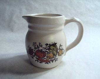 Vintage McCoy Pottery Small Spice Delight Pitcher 12 Ounce Creamer Garden Vegetables