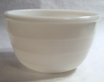 Small White Wide Ribbed Bowl for Vintage GE General Electric Stand Mixer