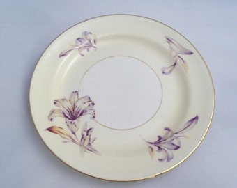 4 Vintage Homer Laughlin China Eggshell Nautilus Lily Bread & Butter Plates