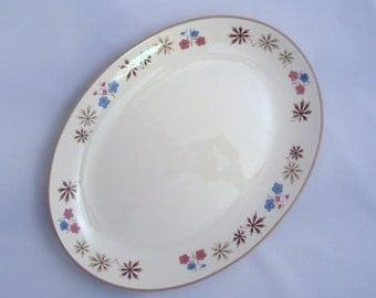 Vintage Franciscan China Earthenware California  Larkspur Oval Serving Platter