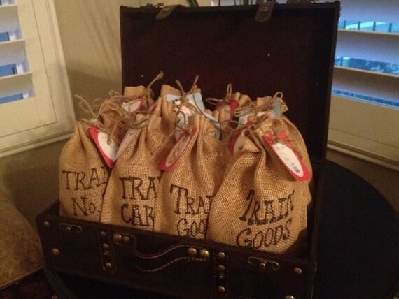 Train Birthday Party Favor Bag