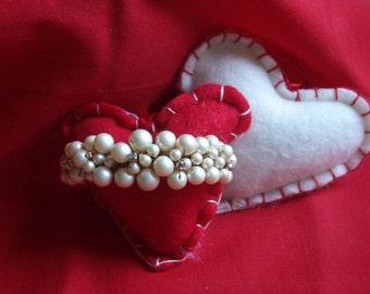 Bracelet Pearl & Rhinestone Faux Vintage Round Flex Link Bracelet