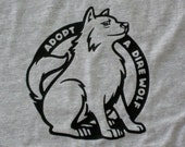 Game of Thrones Stark adopt a direwolf t-shirt.