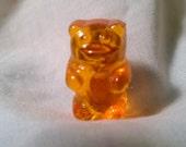 Orange POP art bear brooch