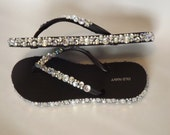 Rhinestone Bling Flip Flop Sandals