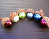 Pearl Acorns- Choose Your Colors: Real Caps